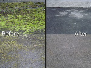 Powerwashing of tarmac