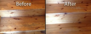 Cleaning and sealing of wooden surfaces like floors and staircases